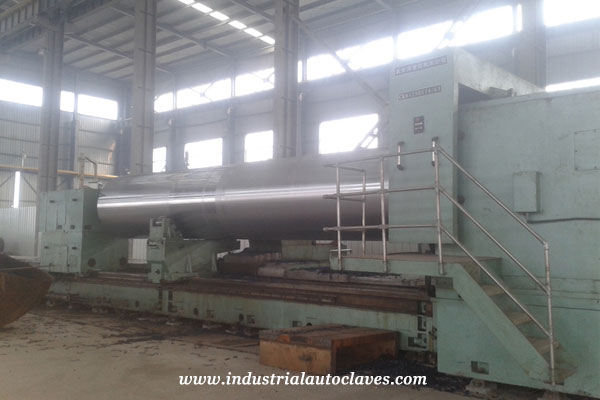 2.5m×14m CNC turning machine for Palm Oil Sterilizer