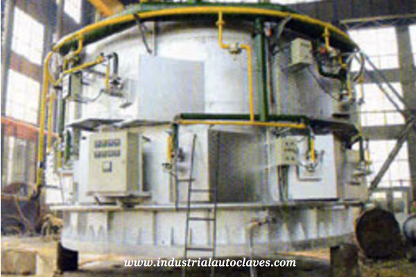 6M bell type heating treatment furnace for AAC Autoclave