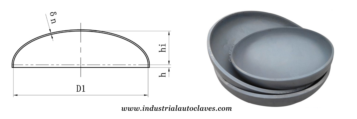 Ellipsoidal Head - Industrial Autoclave, Storage Tank