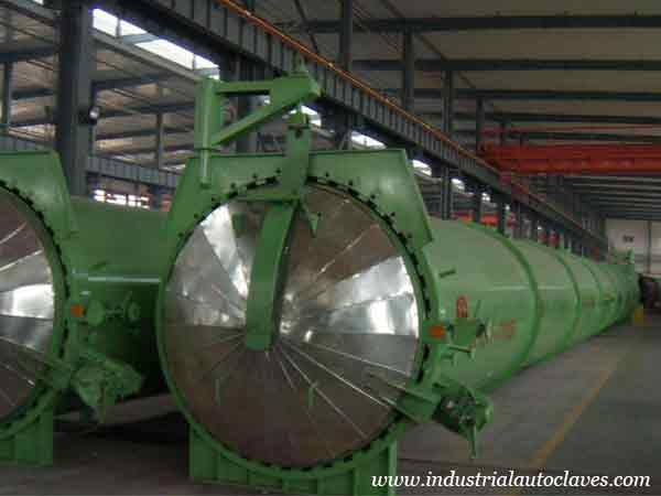 Autoclave for brick exported to India